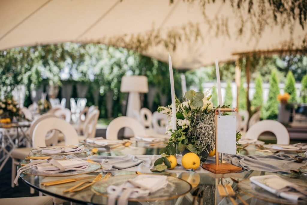 marquee 2 1024x683 - Planning the food at your marquee wedding