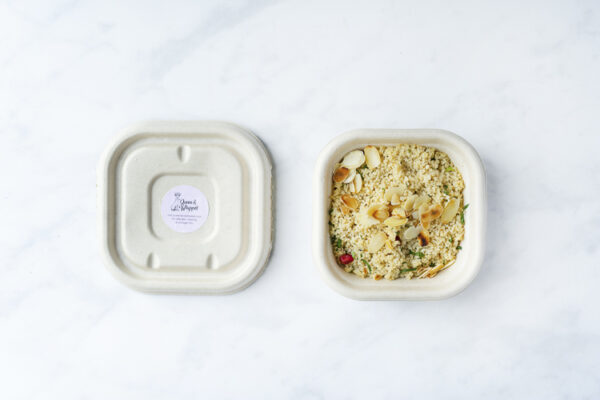 Evoke Pictures Lifestyle Home Feasting Cous Cous  - Cous-cous with pomegranate, toasted almonds and herbs (vegan): DELIVERY FRIDAY 4TH DECEMBER