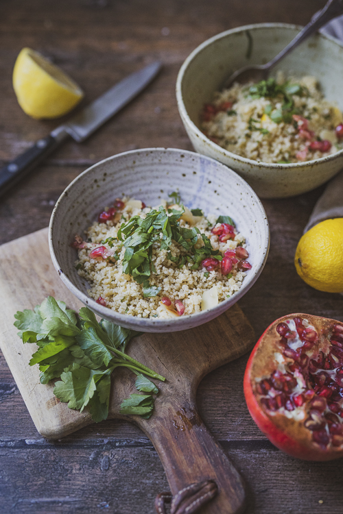Evoke Pictures Lifestyle Home Feasting Cous Cous 8 - Cous-cous with pomegranate, toasted almonds and herbs (vegan): DELIVERY FRIDAY 4TH DECEMBER