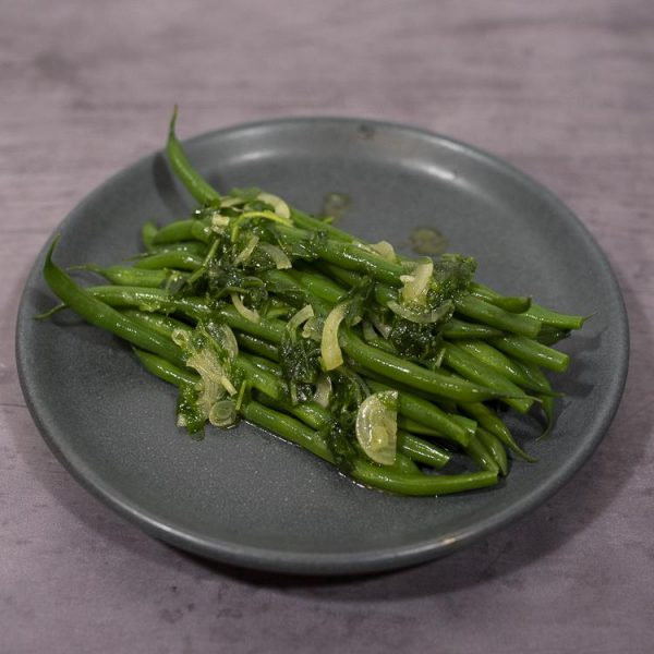 PCP1518 - Green beans with shallot and rocket (vegan): DELIVERY FRIDAY 22nd JANUARY