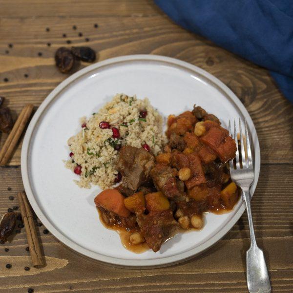lambanddatetagine1 scaled - Slow-cooked Lamb Tagine: DELIVERY FRIDAY 22nd JANUARY